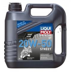 Минеральное моторное масло для 4-тактных мотоциклов Motorbike 4T Street 20W-50 4Л