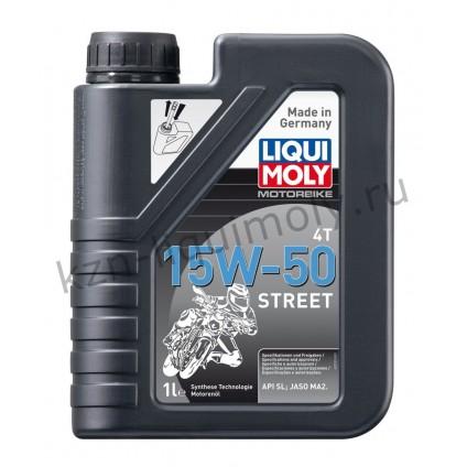 НС-синтетическое моторное масло для 4-тактных мотоциклов Motorbike 4T Street 15W-50 1Л