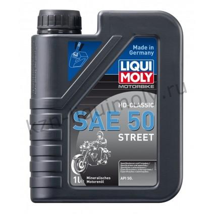 Минеральное моторное масло для 4-тактных мотоциклов Motorbike HD-Classic Street SAE 50 1Л