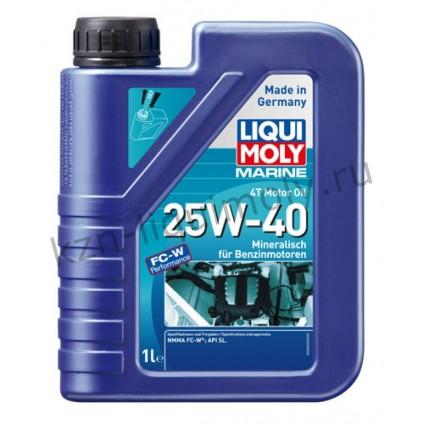 Минеральное моторное масло для лодок Marine 4T Motor Oil 25W-40 1Л