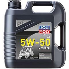 НС-синтетическое моторное масло для 4-тактных мотоциклов ATV 4T Motoroil 5W-50 4Л