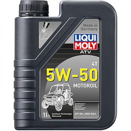 НС-синтетическое моторное масло для 4-тактных мотоциклов ATV 4T Motoroil 5W-50 1Л