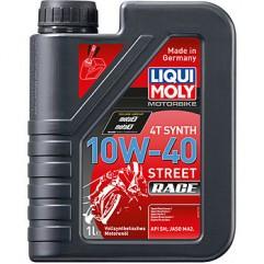 Синтетическое моторное масло для 4-тактных мотоциклов Motorbike 4T Synth Street Race 10W-40 1Л