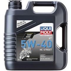 НС-синтетическое моторное масло для 4-тактных мотоциклов Motorbike 4T HC Street 5W-40 4Л
