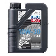 НС-синтетическое моторное масло для 4-тактных мотоциклов Motorbike 4T Street 10W-30 1Л