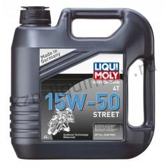 НС-синтетическое моторное масло для 4-тактных мотоциклов Motorbike 4T Street 15W-50 4Л