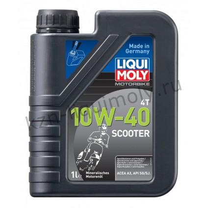 Минеральное моторное масло для скутеров Motorbike 4T Scooter 10W-40 1Л
