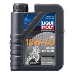 Минеральное моторное масло для 4-тактных мотоциклов Motorbike 4T Basic Offroad 10W-40 1Л