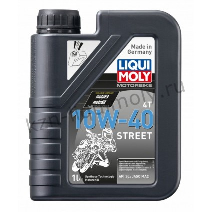 НС-синтетическое моторное масло для 4-тактных мотоциклов Motorbike 4T Street 10W-40 1Л